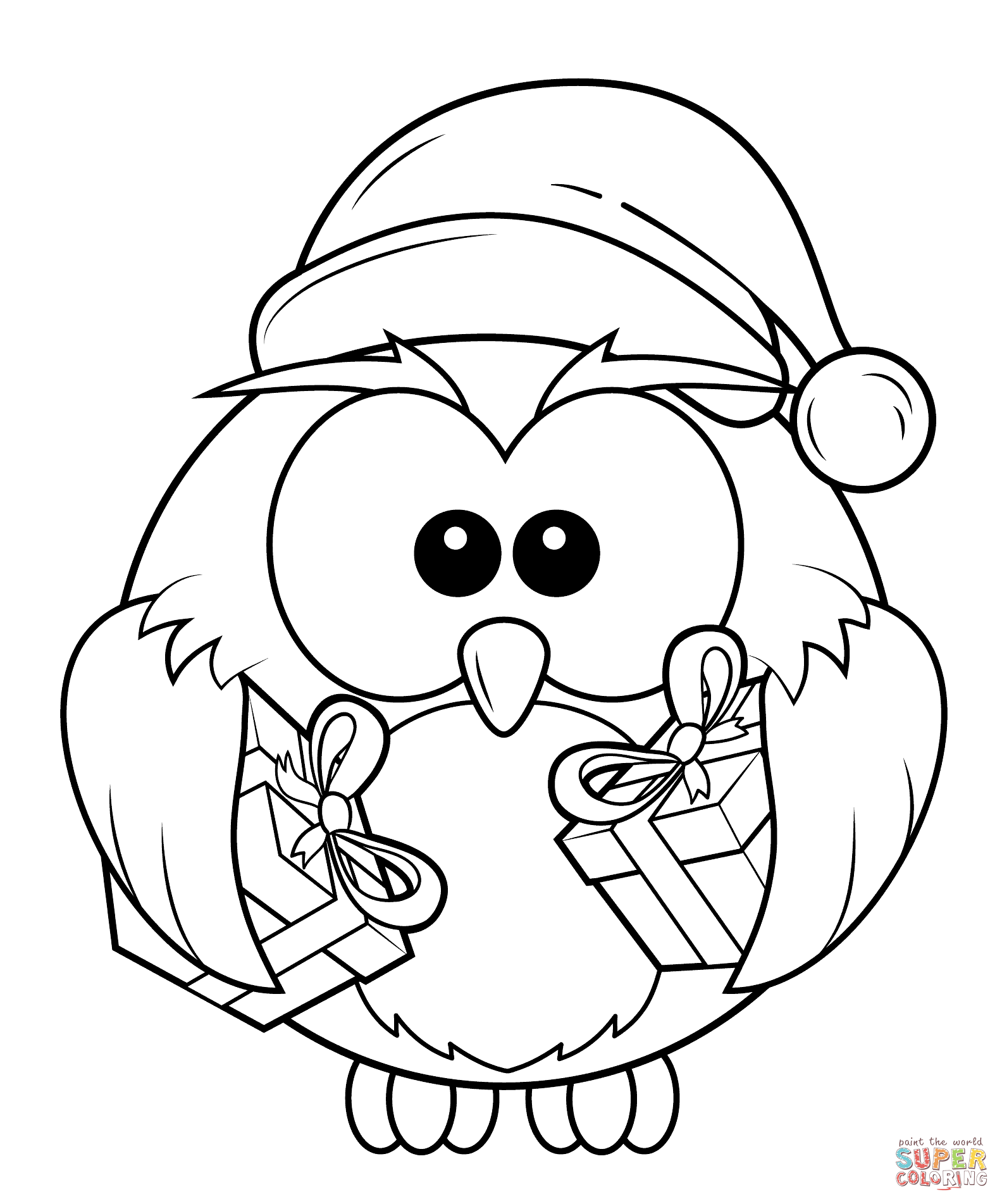 christmas art coloring pages - photo#3