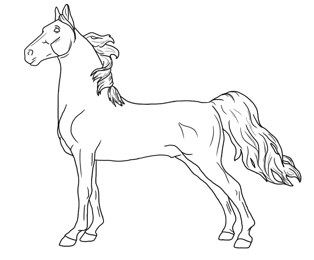 It's just a graphic of Persnickety breyer horse coloring pages