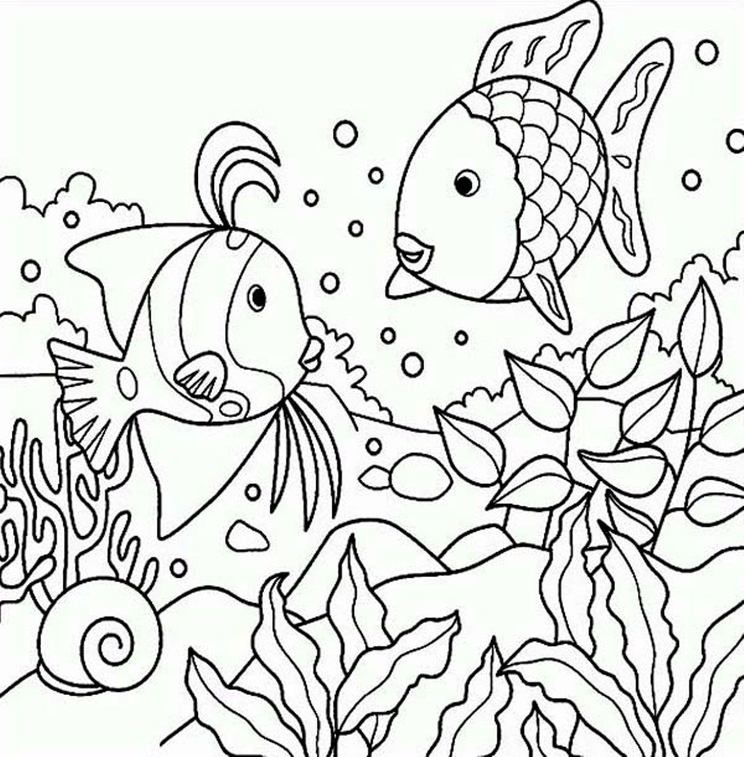 Coloring book page of fish - Coloring Page Sea Fish Oloring Pages For All Ages