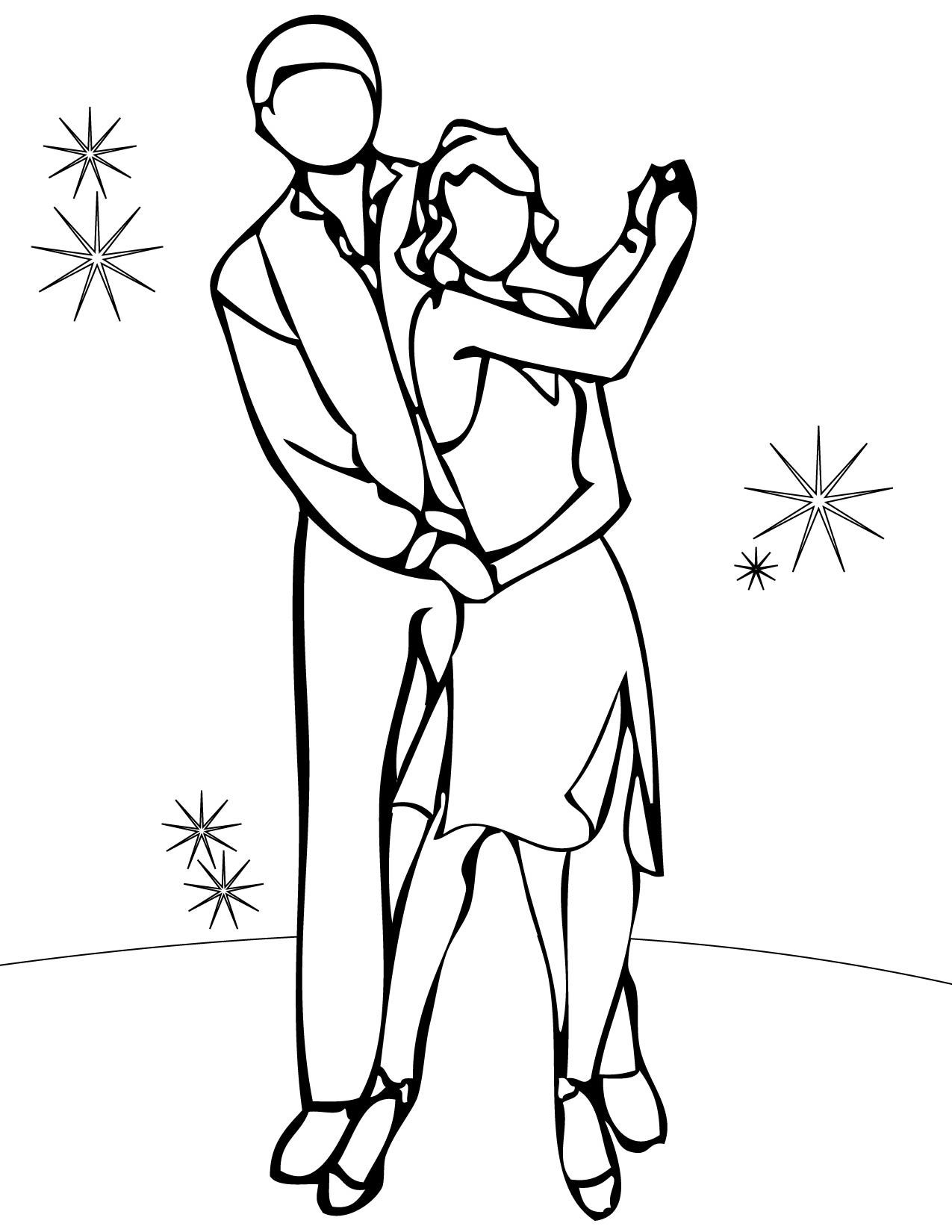 Jazz Dance Coloring Pages Coloring