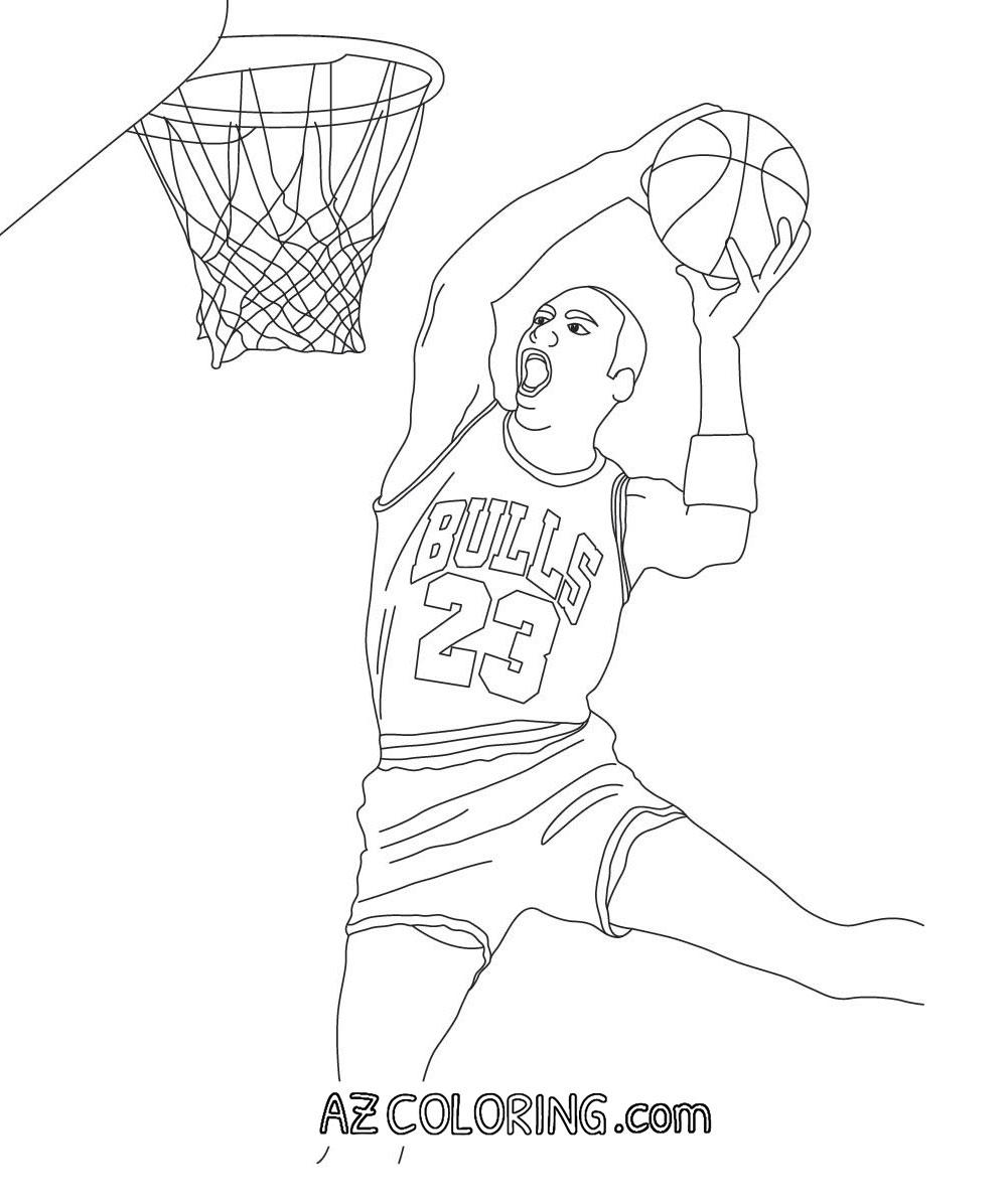 Michael Jordan Coloring Pages - Coloring Home
