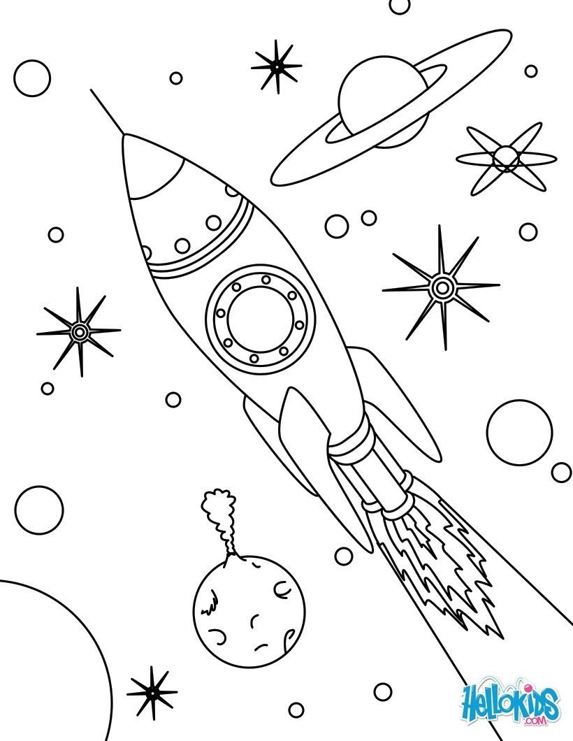 SPACE coloring pages : 21 free online coloring books & printables ...