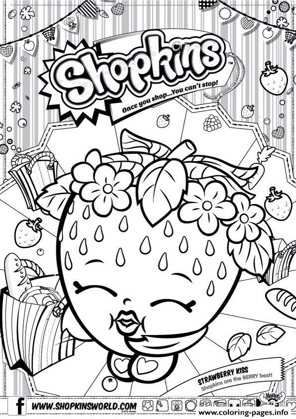 Print Shopkins Strawberry Kiss Coloring Pages