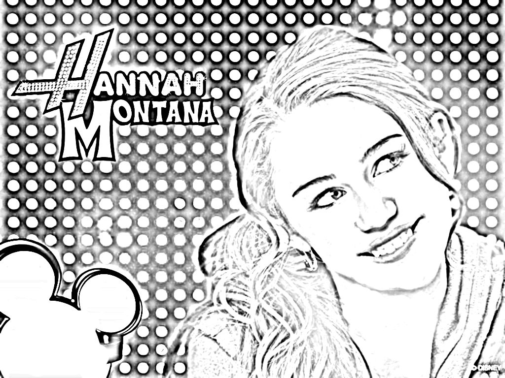 Miley Cyrus Coloring Pages Coloring Home