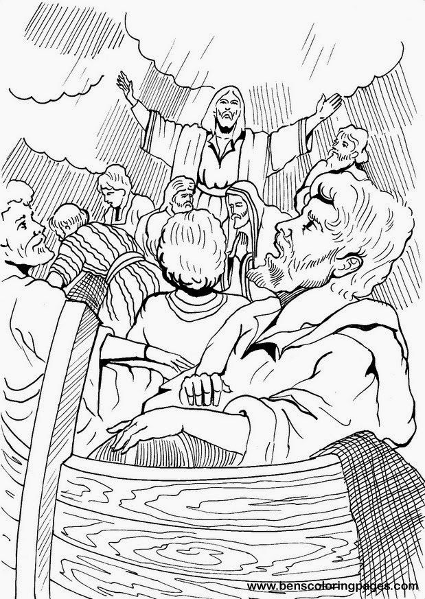Jesus Calms The Storm Coloring Pages Coloring Home Jesus Calms The Coloring Page