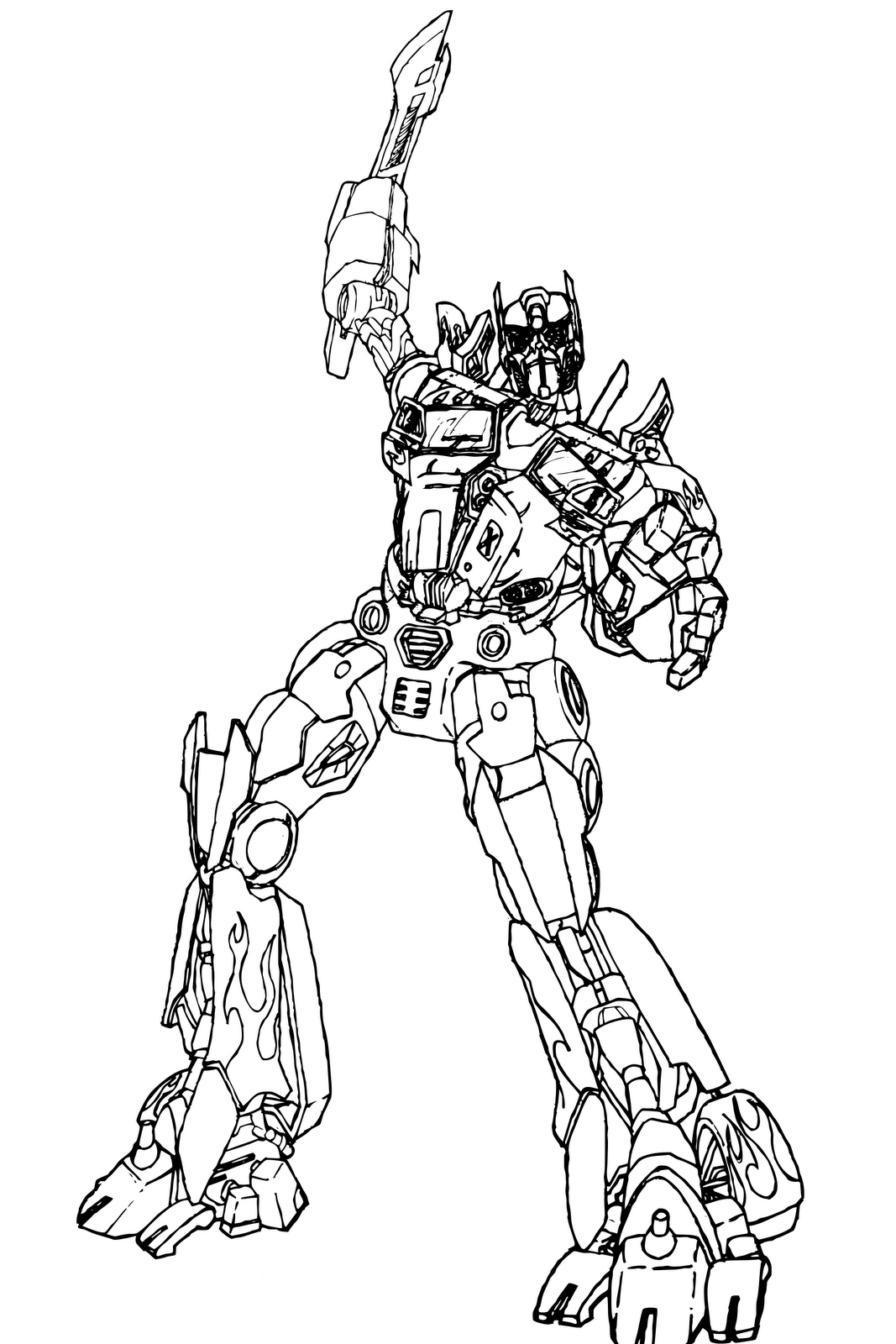 Transformers Coloring Pages Optimus