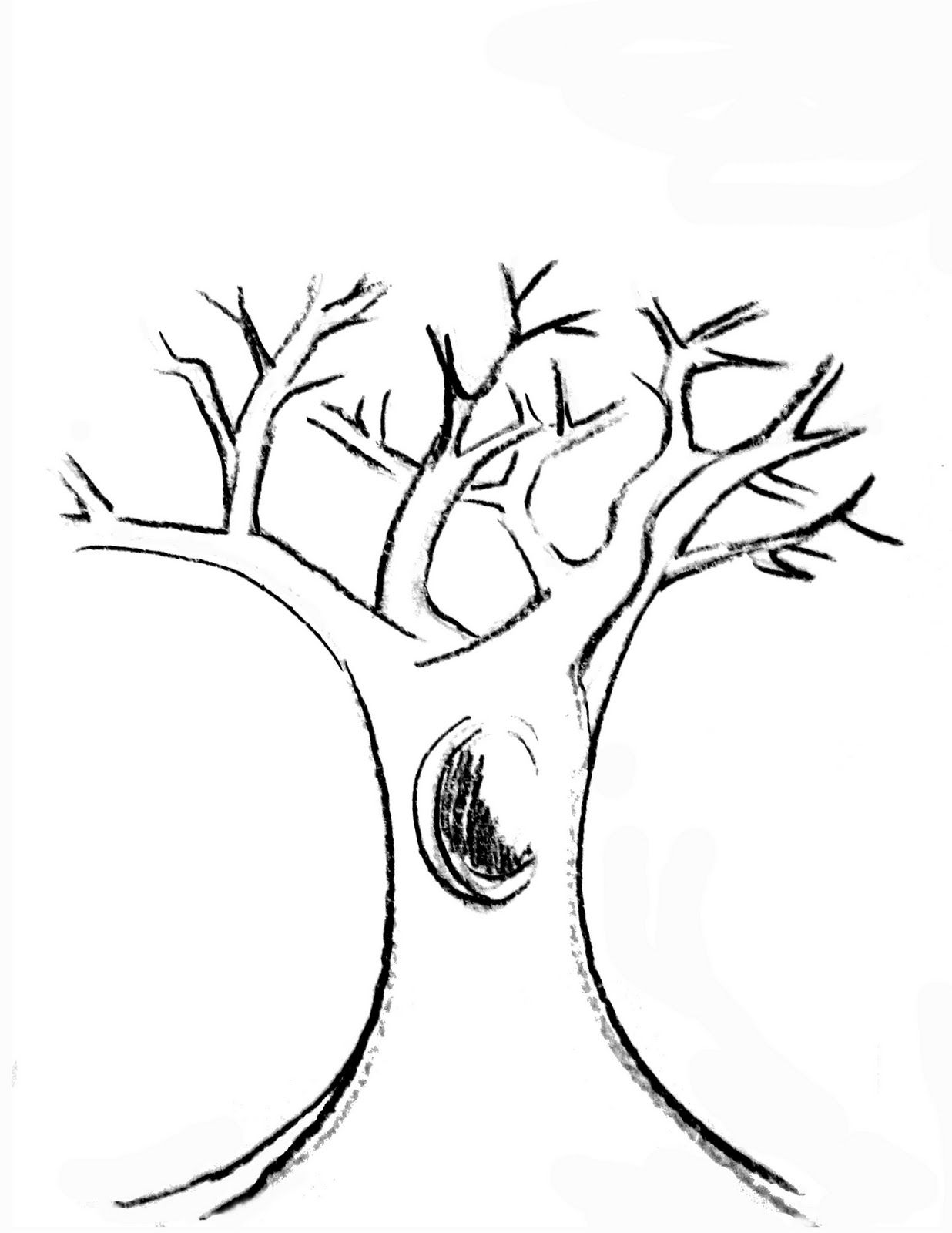 It's just an image of Unusual Printable Tree Branch Template