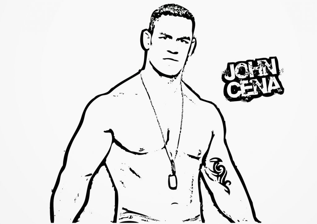 john cena coloring pages to print coloring home. Black Bedroom Furniture Sets. Home Design Ideas