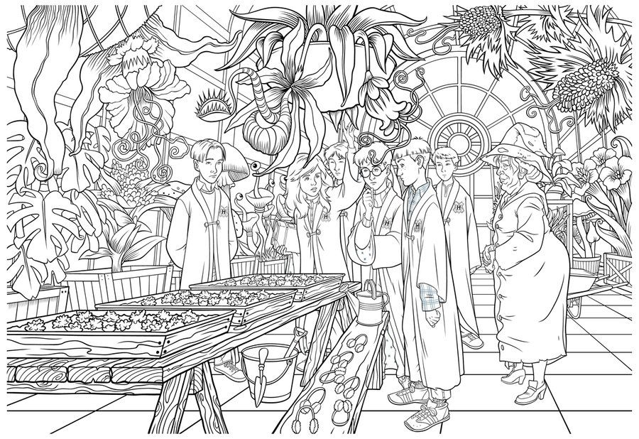 Harry Potter Herbology Class by IrishManReynolds on DeviantArt