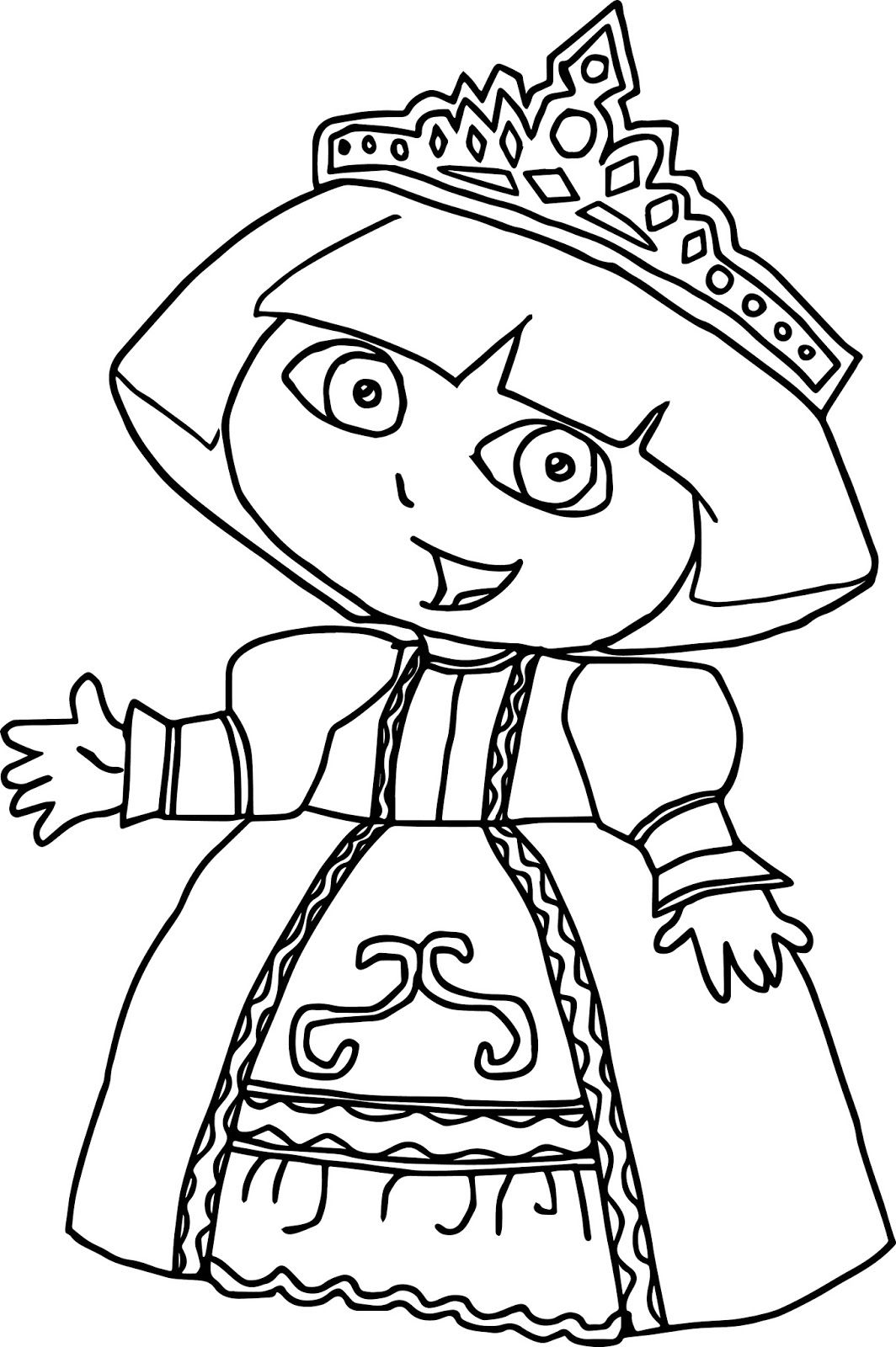 Dora the explorer 2 coloring pages coloring home for Dora the explorer coloring pages to print