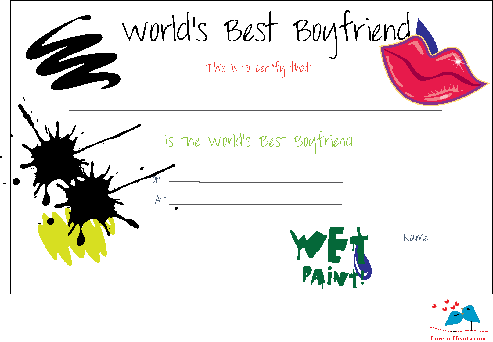 I Love You Boyfriend Coloring Pages