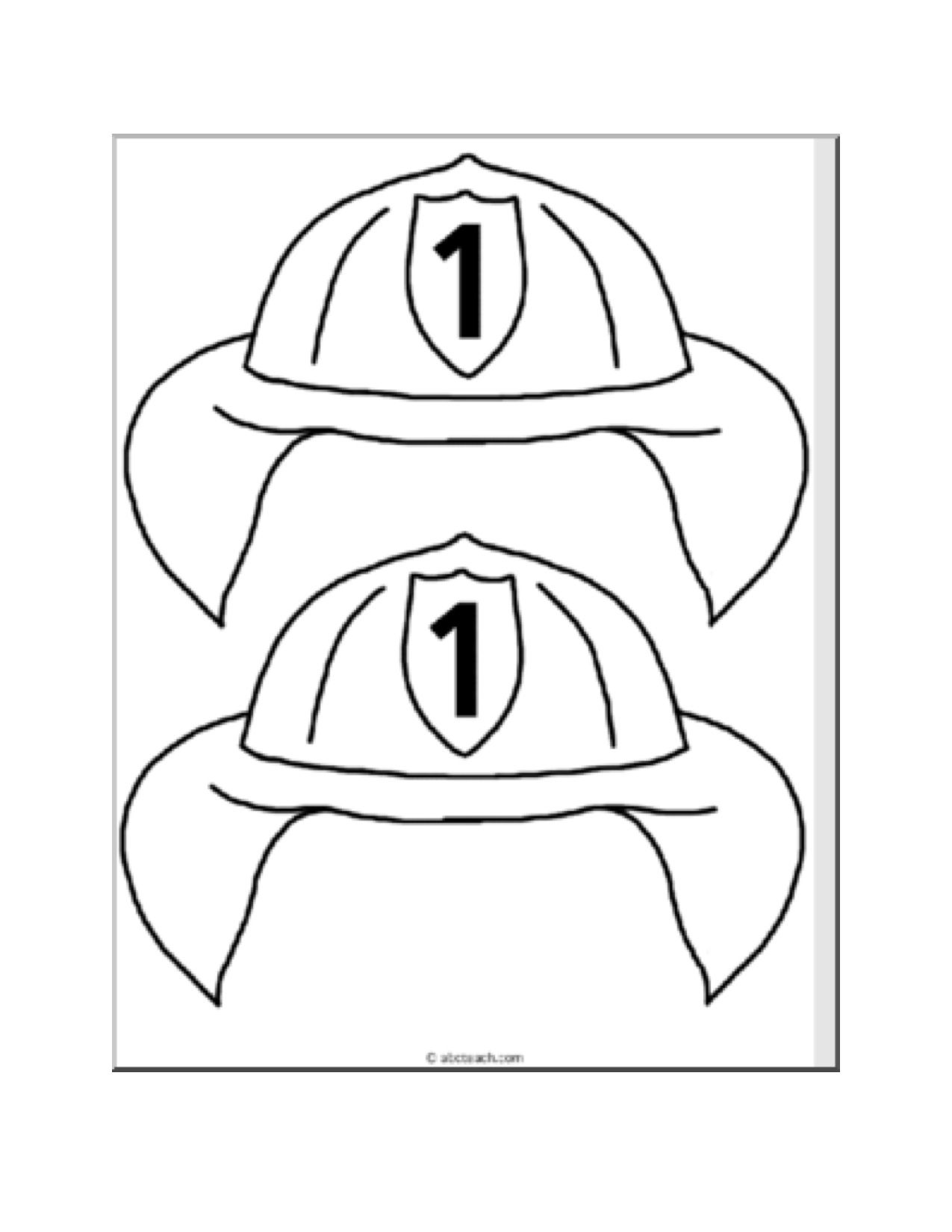 coloring pages of fire hats - photo#22