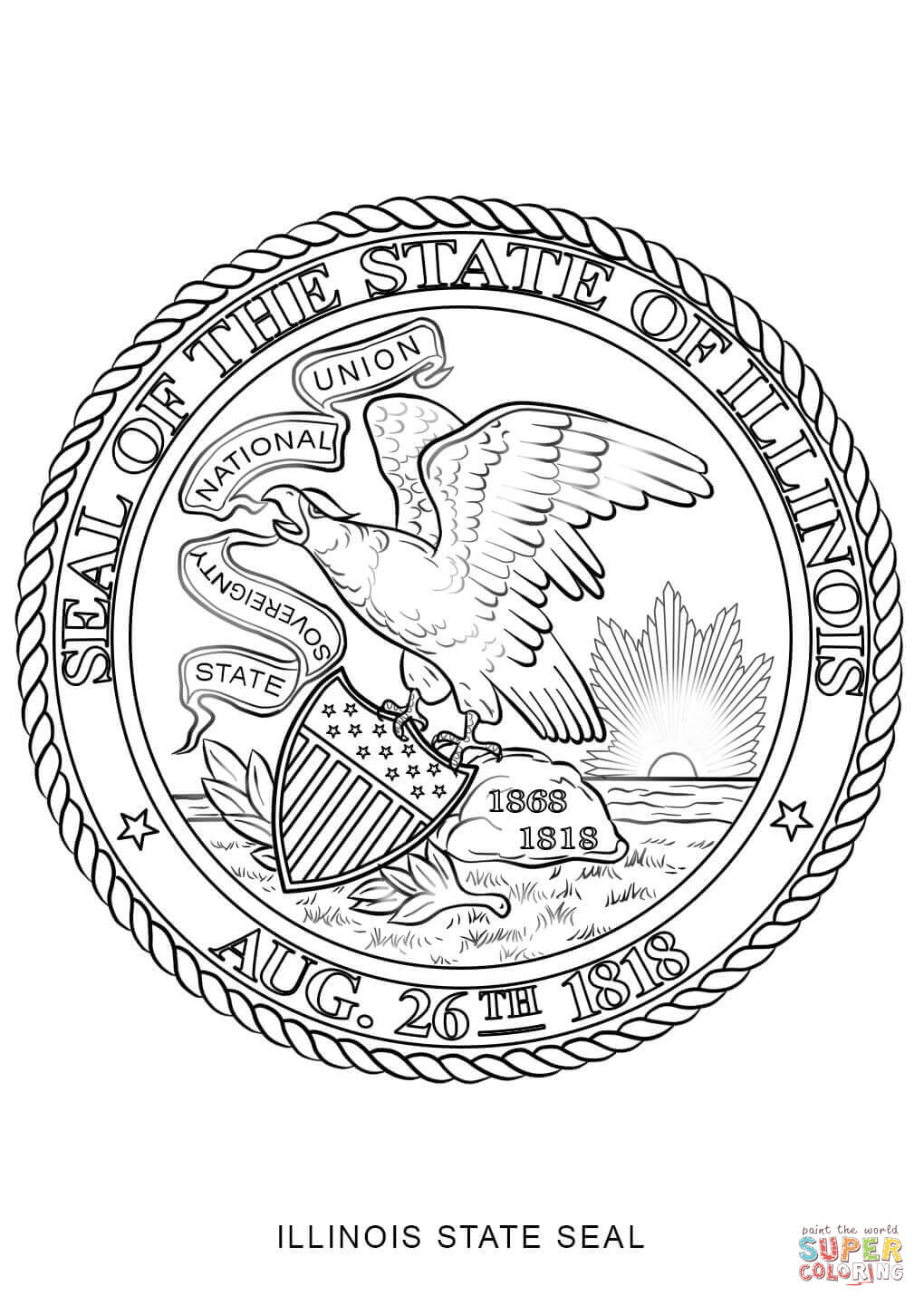 Wisconsinstate bird coloring page az coloring pages for Arizona state seal coloring page