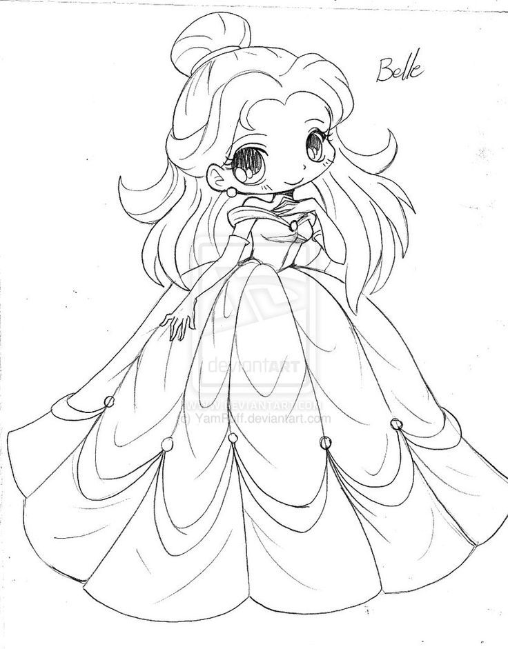 anime chibi princess coloring pages coloring pages for all ages - Coloring Pages Anime Couples Chibi
