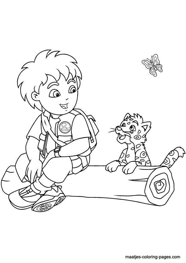 Go Diego Coloring Pages Printable Coloring Home