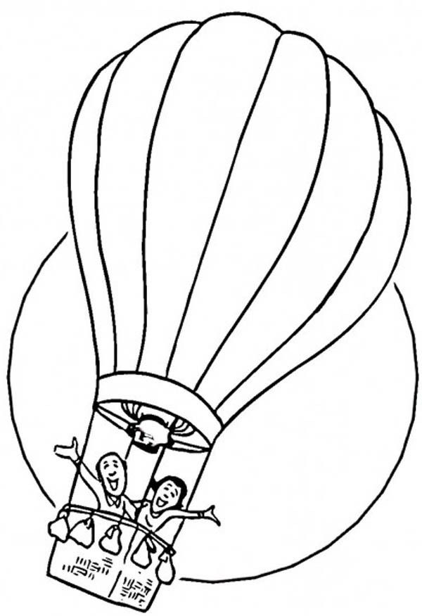 Coloring Pages Of Hot Air Balloons