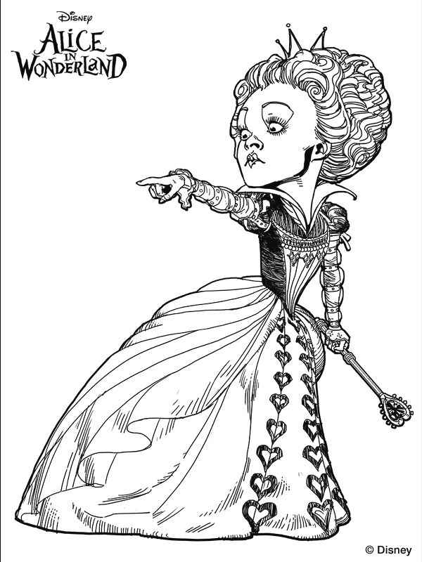 Alice In Wonderland Coloring Pages Pdf : Alice in wonderland coloring page pages for