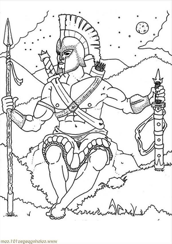war god ares from greek mythology coloring page war god ares from