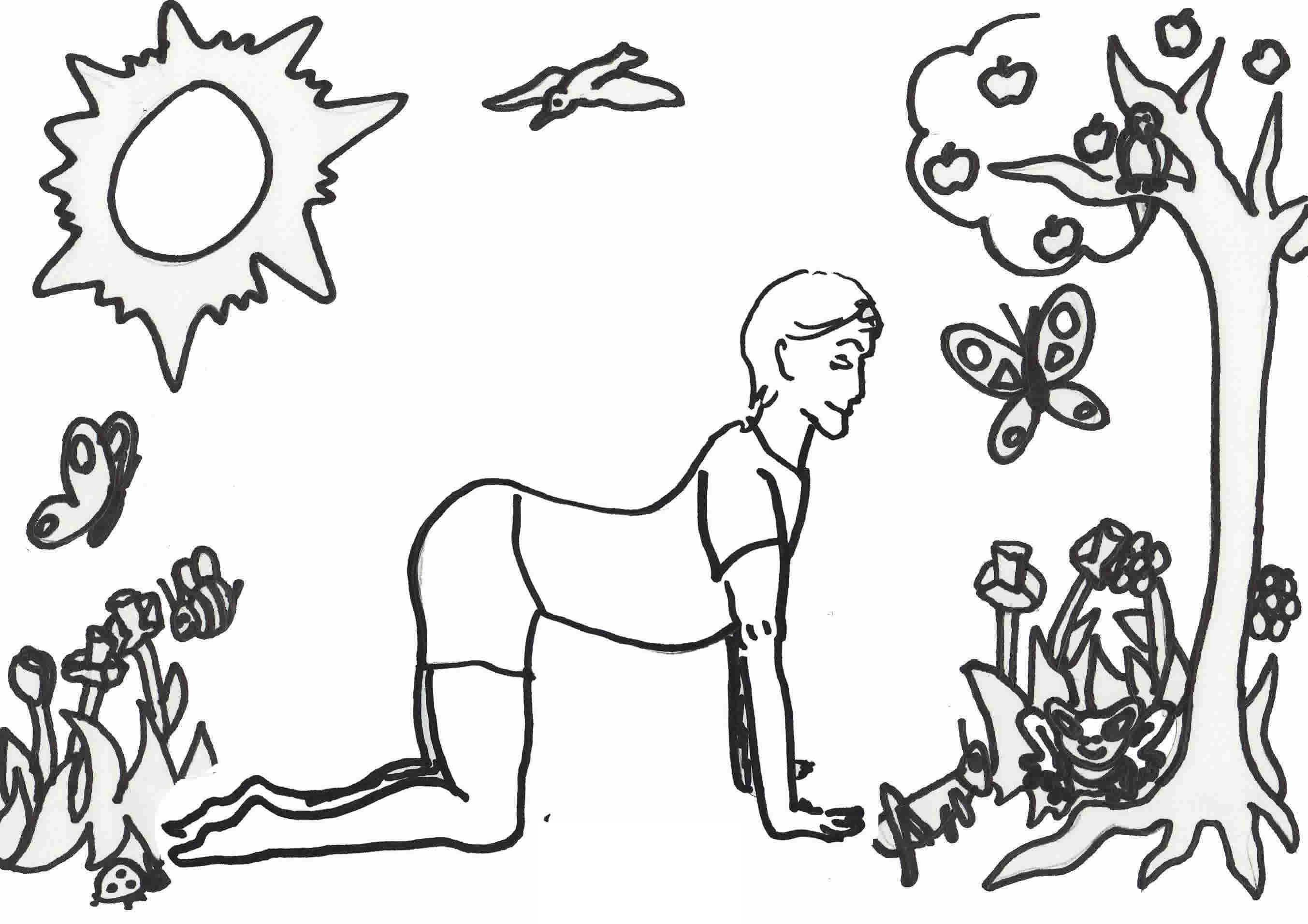Coloring pages yoga - Yoga Coloring Pages For Kids 4 Jpg