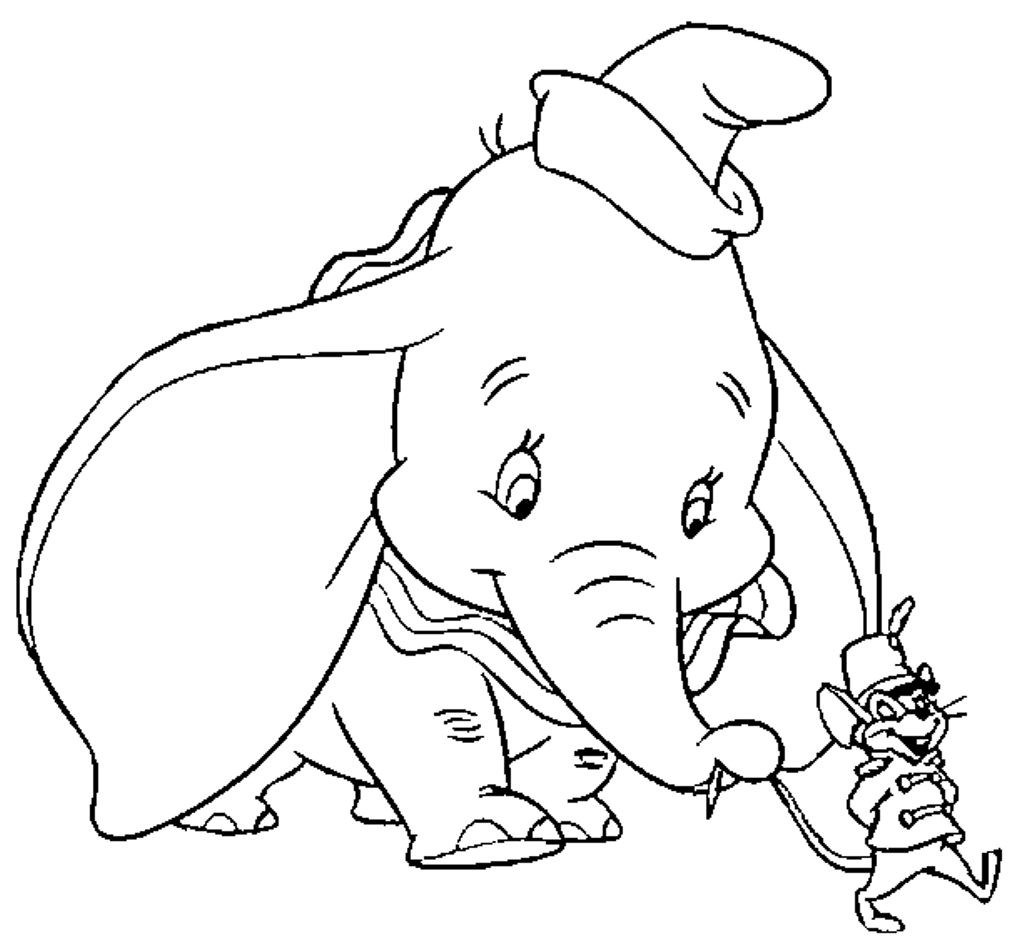 Dumbo Coloring Pages   Only Coloring Pages - Coloring Home