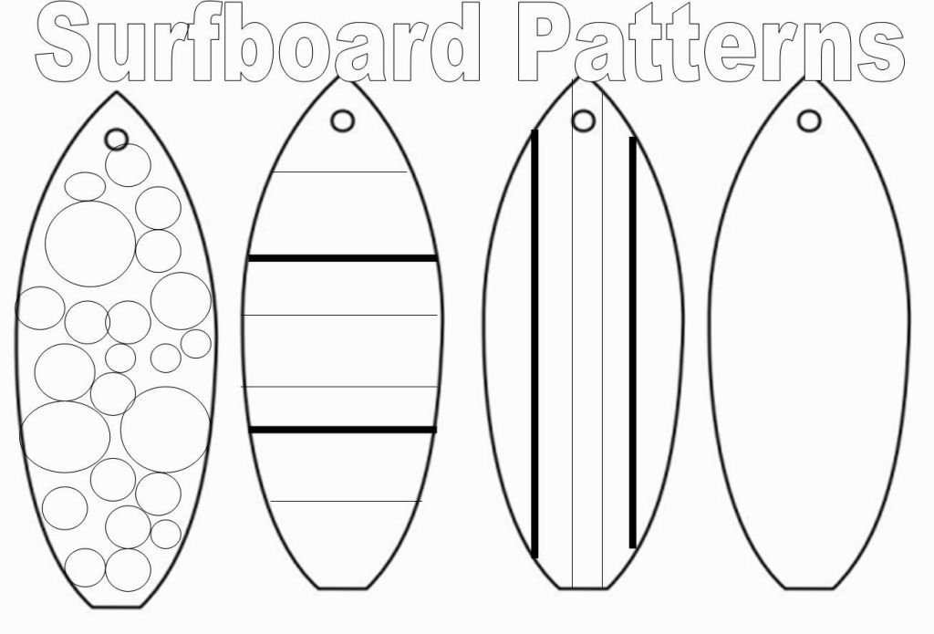 Coloring pages of surfboards coloring home for Making a surfboard template