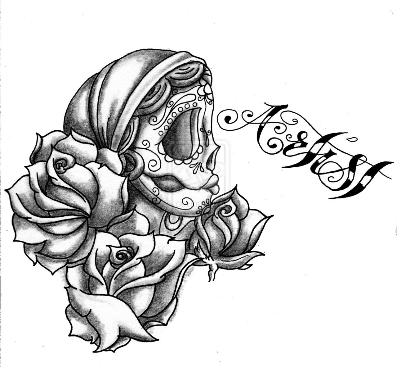 Cool skull design coloring pages coloring home for Cool rose coloring pages
