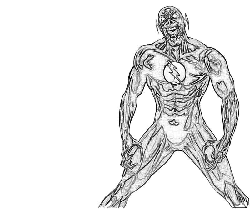 Flash Superhero Coloring - Coloring Pages for Kids and for Adults
