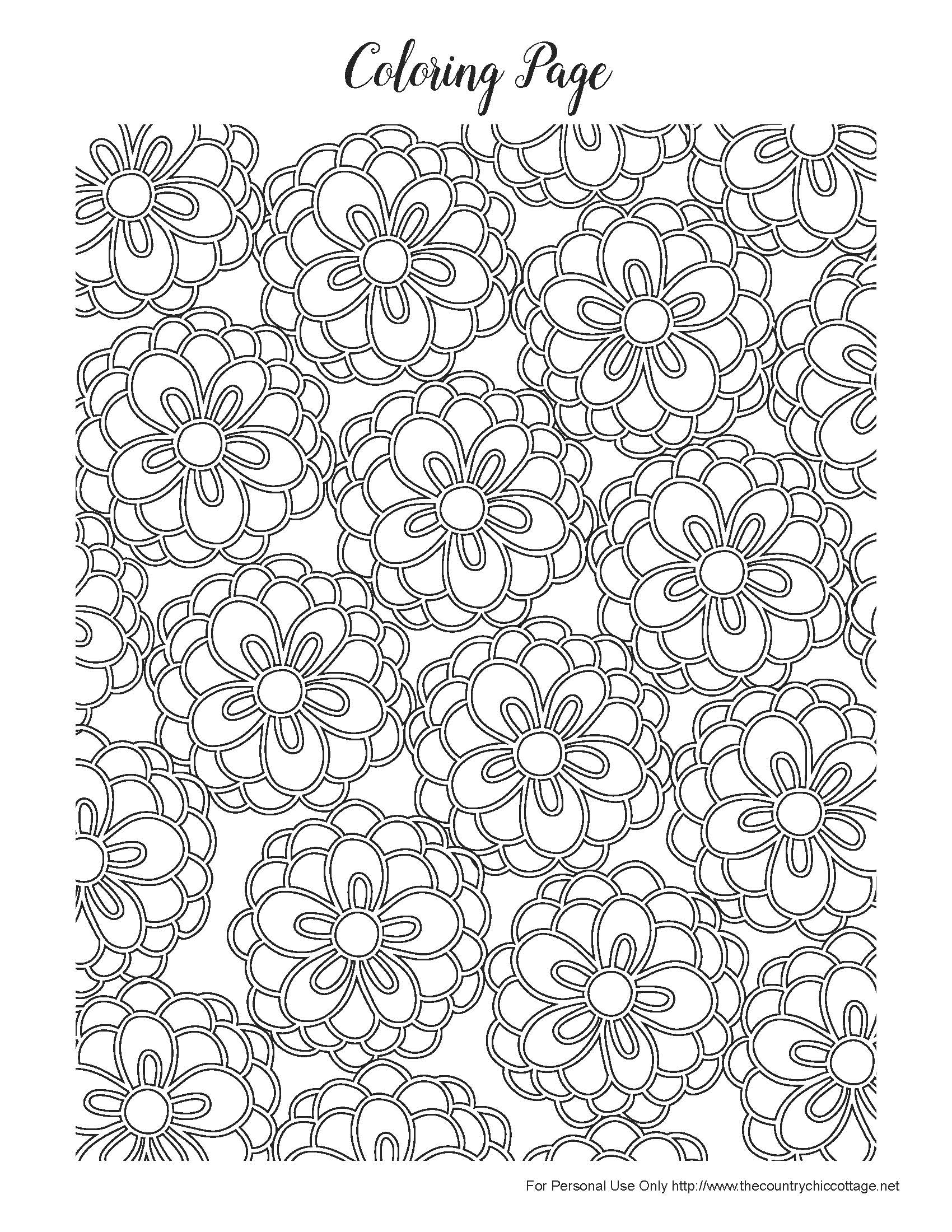Intricate Flower Coloring Pages