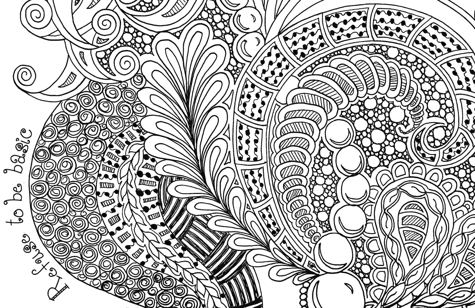 Printable Zentangle Coloring Pages Coloring Home Free Printable Zentangle Coloring Pages