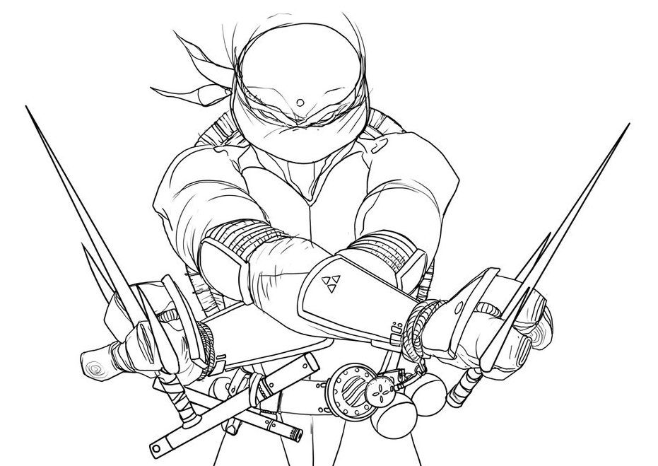 ralph ninja turtle coloring pages - photo#22