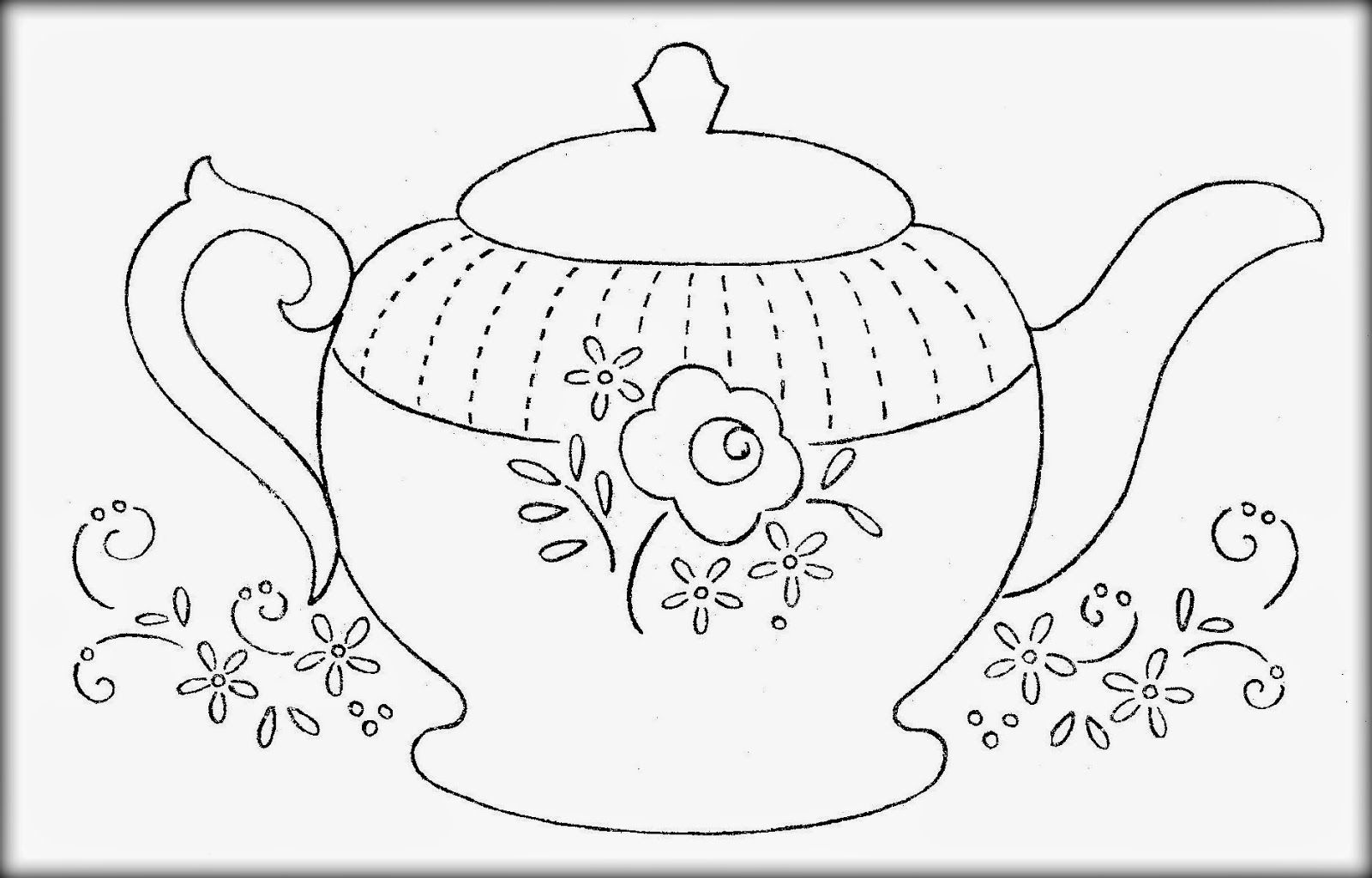 i am a little teapot coloring pages - photo #5
