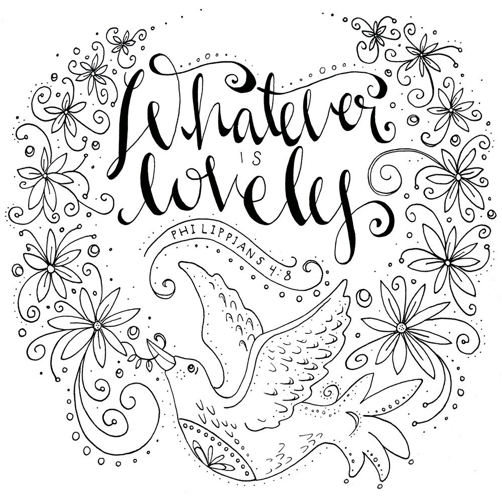 Whatever Is Lovely: A Coloring Book for Reflection and Worship: WaterBrook:  9781601429285: Amazon.com: Books