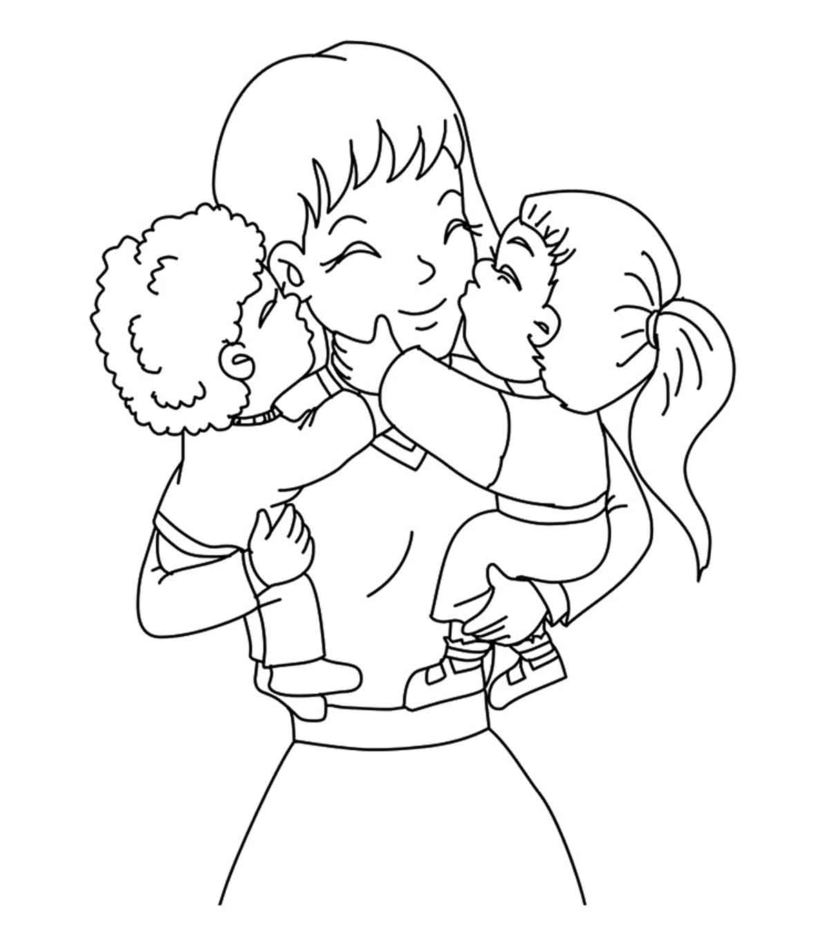 Top 20 Free Printable Mother's Day Coloring Pages Online