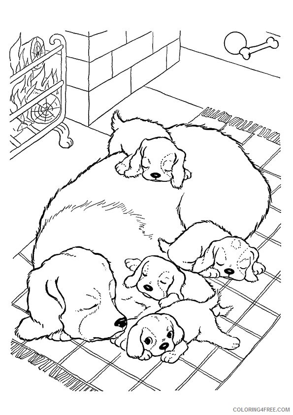 Dog coloring pages sleeping Sleeping puppy coloring pages |  Stephanus.lesoleildefontanieu.com