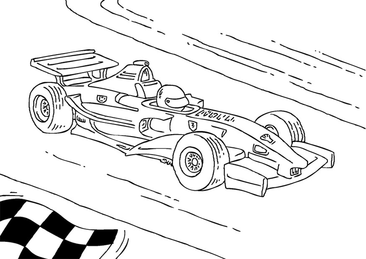 Coloring Page Formula 1 race car - free printable coloring pages - Img 27177