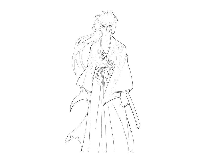 coloring pages for rurouni kenshin - photo#7