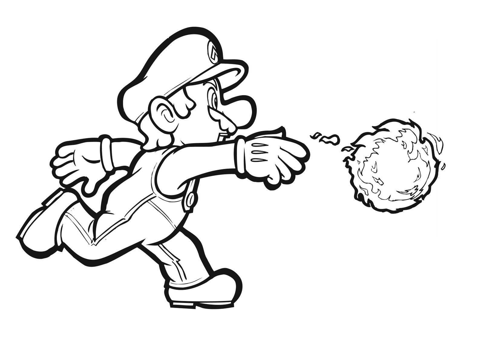 - Super Mario Fire Flower Coloring Pages - Coloring Home