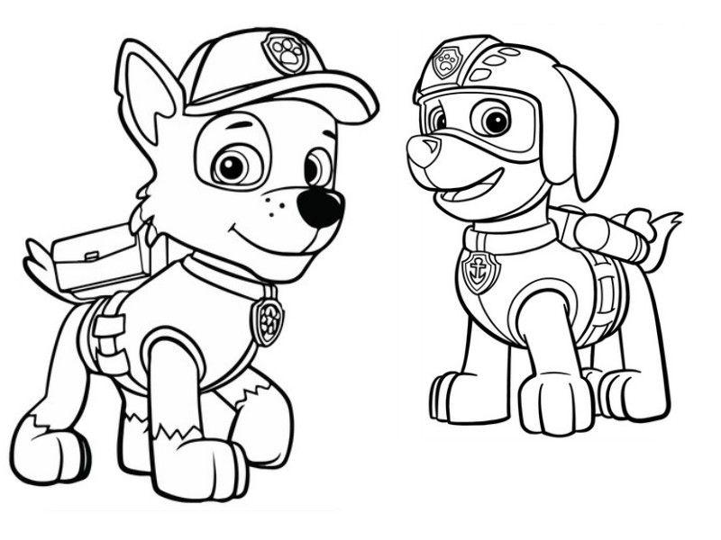 Раскраска щенячий патруль - 6