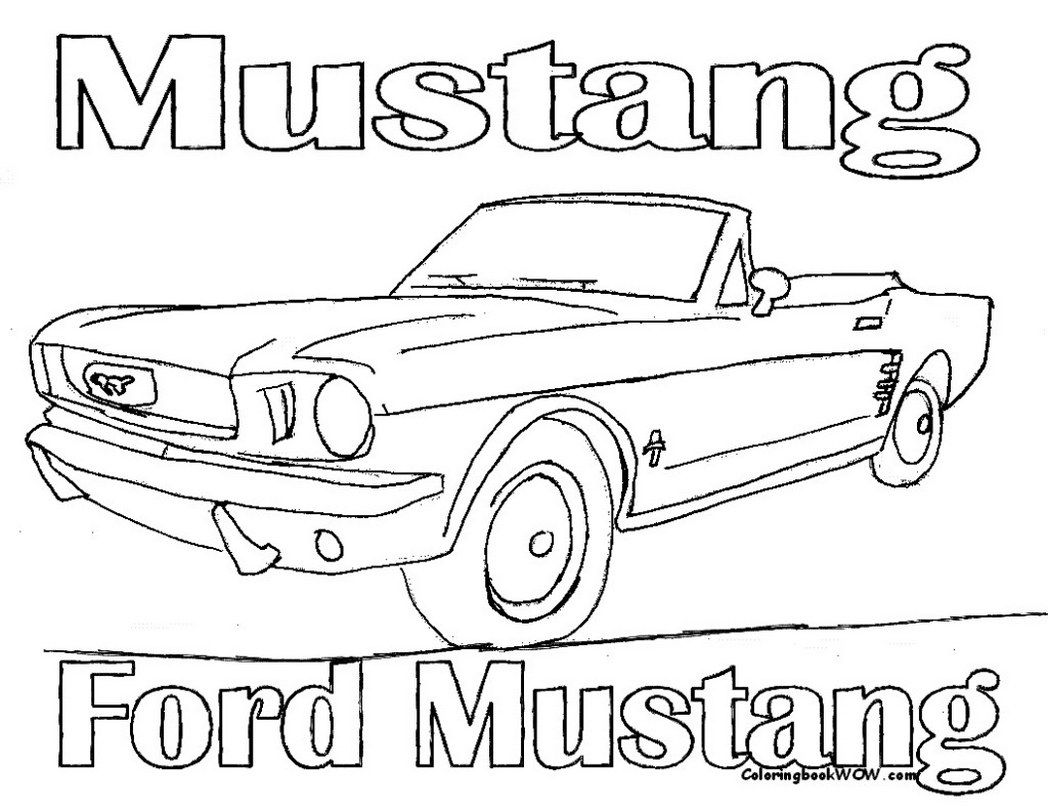 old ford mustangs coloring pages - photo#29