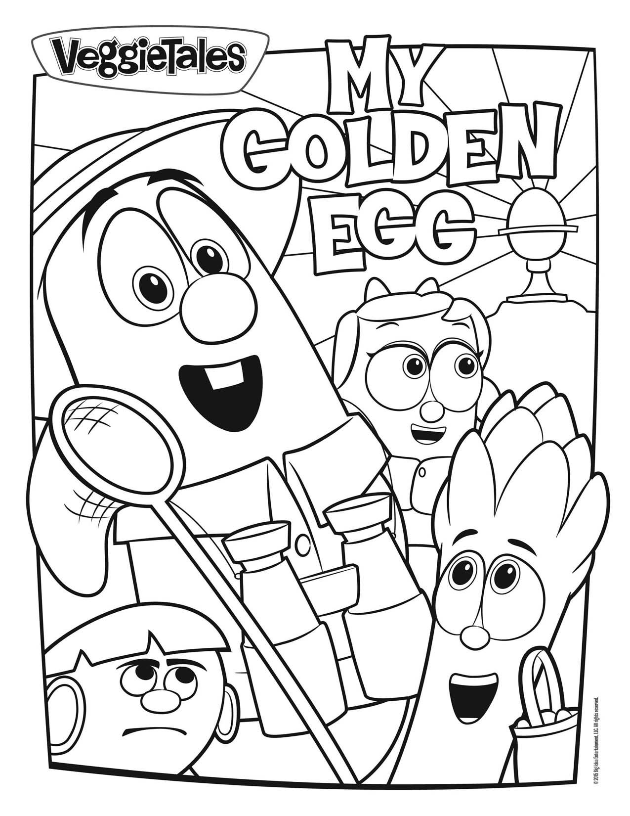 Veggie Tales Easter Coloring Pages