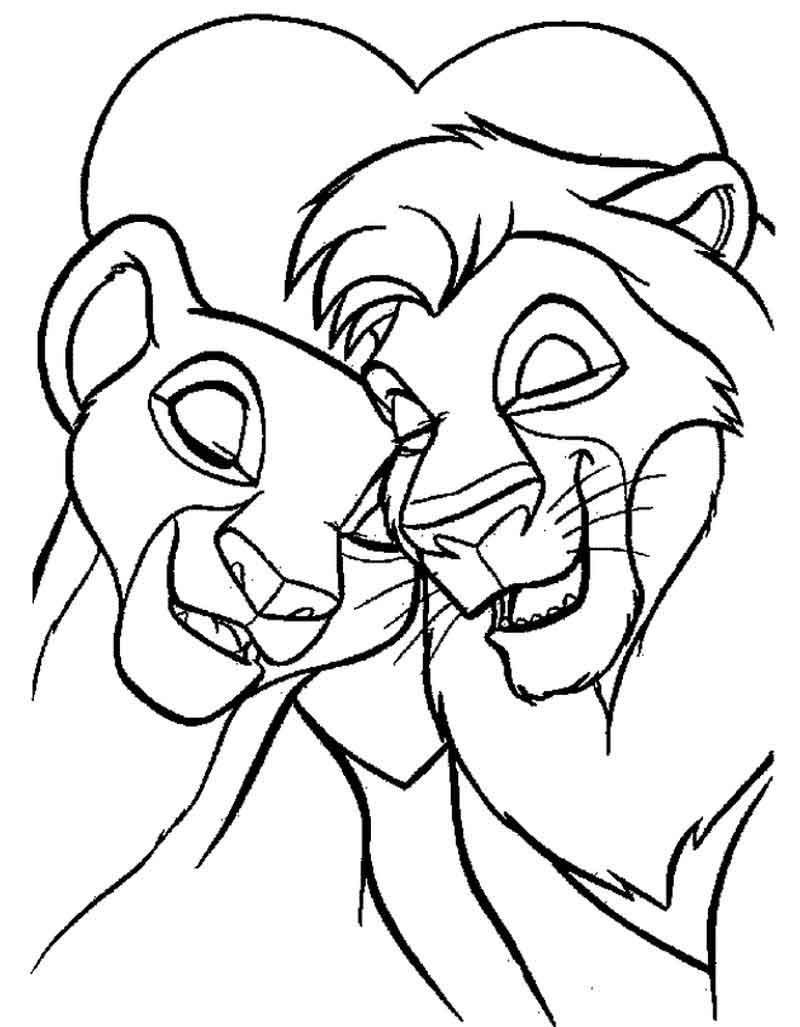 Simba And Nala Coloring Pages Coloring Home