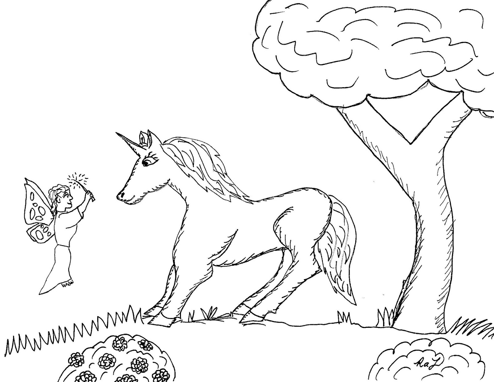 Coloring Pages : Robin Great Coloring Unicorns And Fairies Are ...
