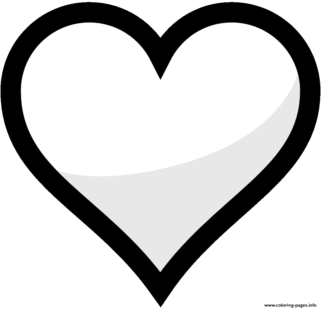 Heart Emoji Coloring Pages Free Printable Coloring Home