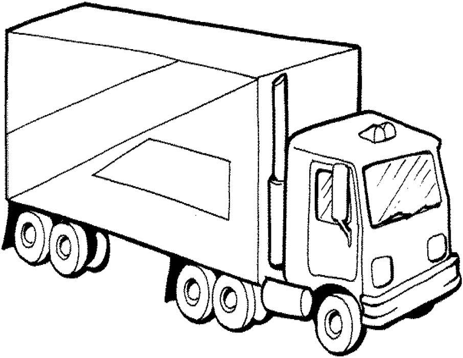eighteen wheeler coloring pages - photo#39