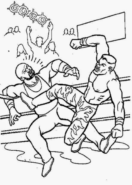 Wrestling Coloring Pages For Kids Coloring Home