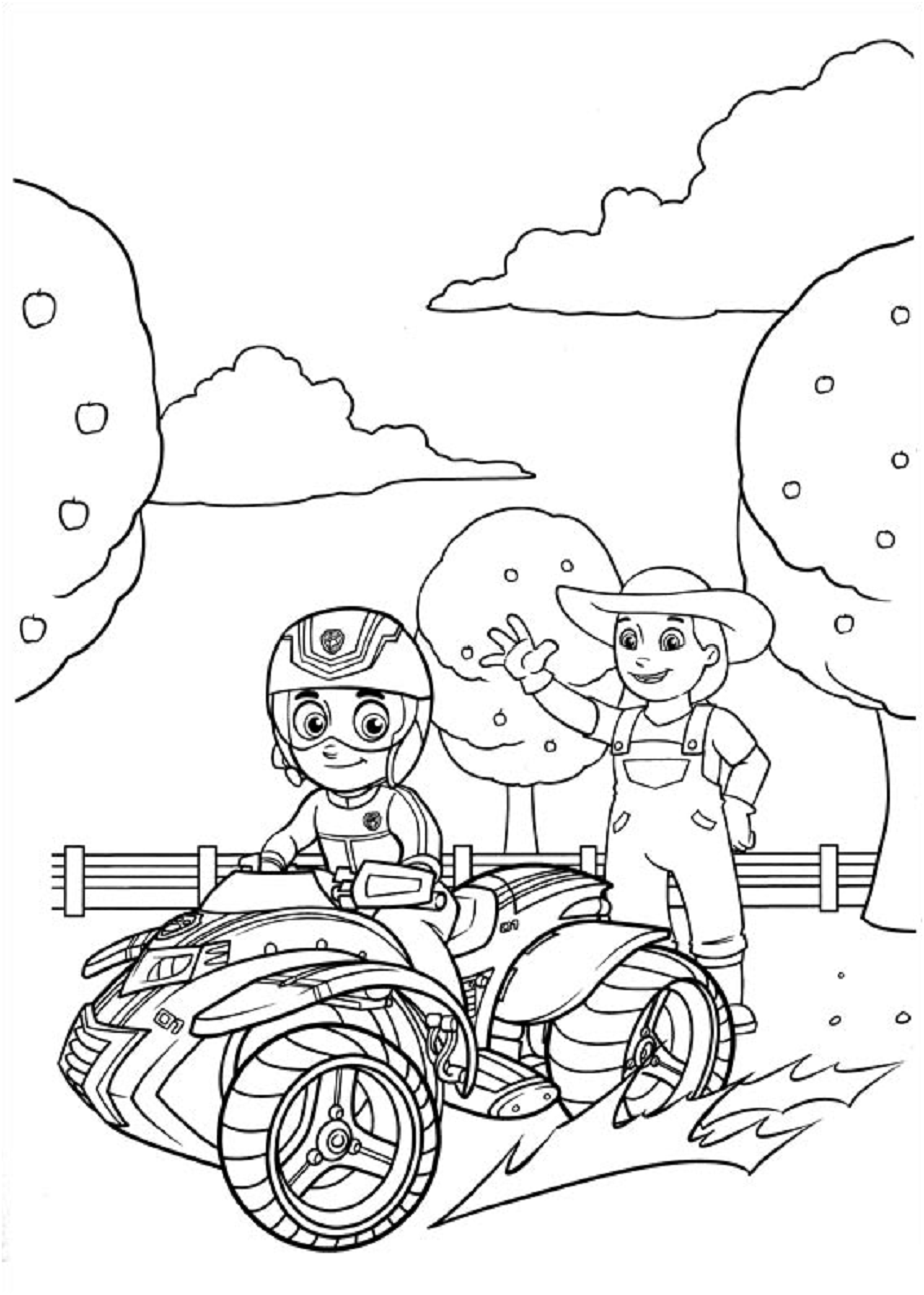 Ryder And Farmer Yumi Coloring Page - Free Printable Coloring ...