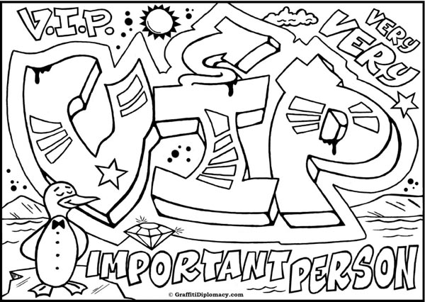 coloring graffiti pages online - photo#33