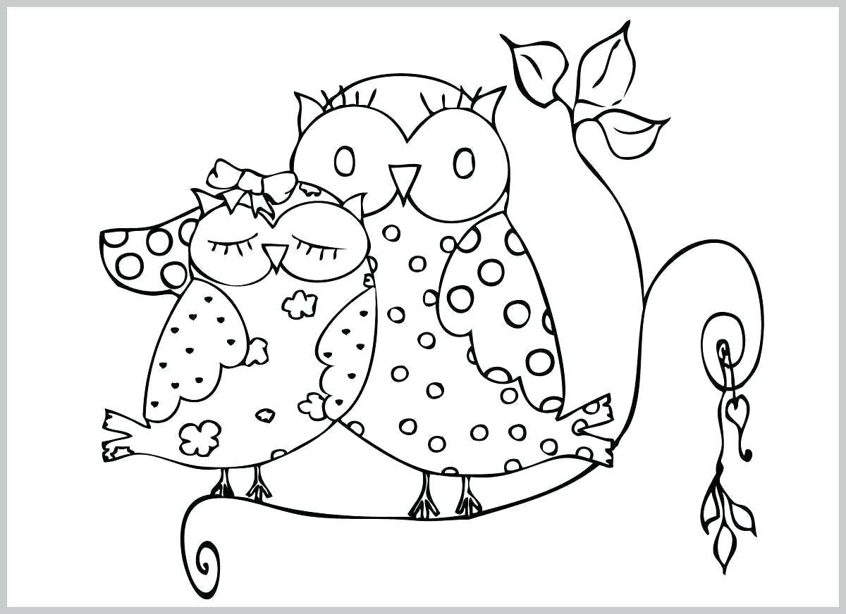 Cute Owls Coloring Pages - Coloring Home