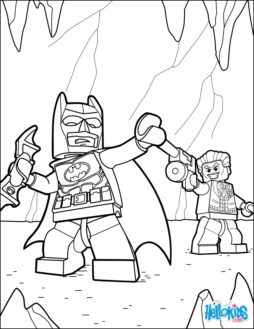 Lego Batman And Joker Coloring Pages