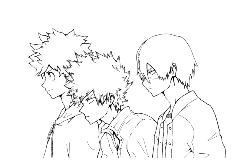My Hero Academia Free Coloring Pages